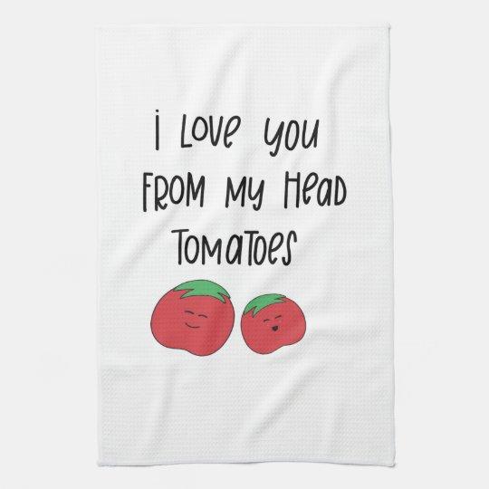 Tomato pun towel