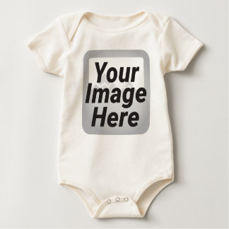 Tomato Red Abstract Low Polygon Background Baby Bodysuit