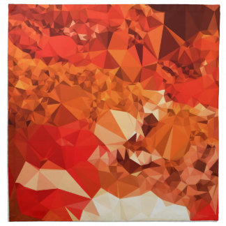 Tomato Red Abstract Low Polygon Background Napkin