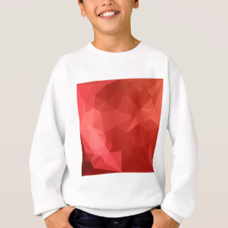 Tomato Red Abstract Low Polygon Background Sweatshirt