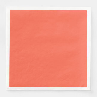 Tomato Red Solid Color Customize It Disposable Napkins