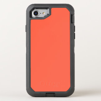 Tomato Red Solid Color It OtterBox Defender iPhone 7 Case