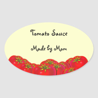 Tomato Sauce Custom Canning Labels