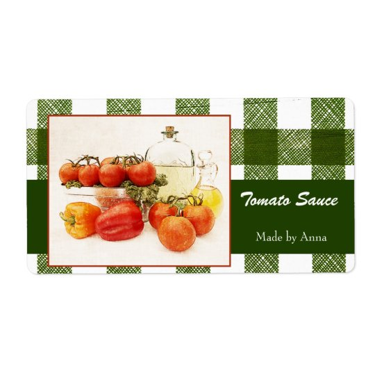 Tomato sauce food labels