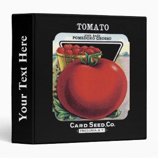 Tomato Seed Packet Label Vinyl Binders