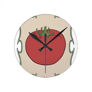Tomato Seeds Round Clock