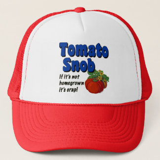 Tomato Snob Gardener Saying Hat