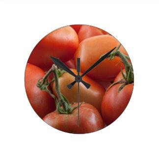 Tomato Stems Round Clock