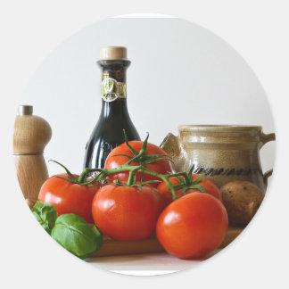 Tomato Still Life Classic Round Sticker