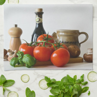 Tomato Still Life Kitchen Towel