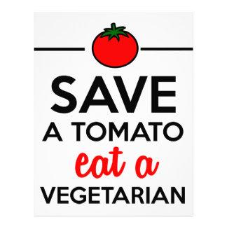 Tomato & Vegetable - Save a Tomato eat a Vegetaria Letterhead Design
