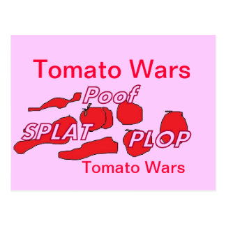 Tomato Wars Humor Card