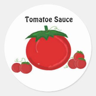 Tomatoe Sauce Round Sticker