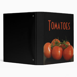 Tomatoes 3 Ring Binder