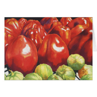 Tomatoes and Tomatillios Card