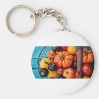 Tomatoes Basic Round Button Keychain