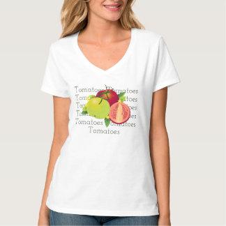 Tomatoes Botanical Vegetable Floral Fruit Garden T-Shirt