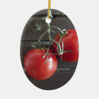 Tomatoes Ceramic Ornament
