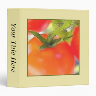 Tomatoes Close Up 3 Ring Binder