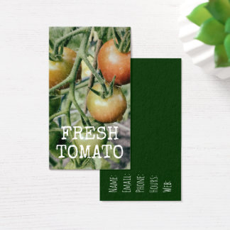Tomatoes Fresh Garden Tomato Retro Kitchen Business Card