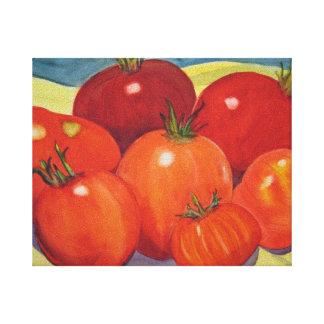 Tomatoes From My Garden Canvas Print