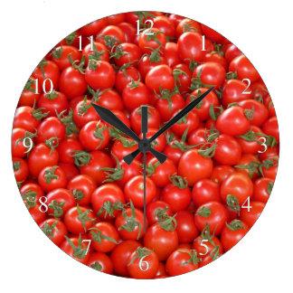 Tomatoes Large Clock