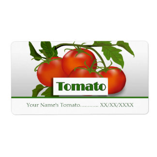 Tomatoes Preserves Canning Label Shipping Label