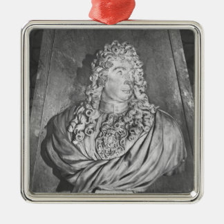 Tomb of Charles Le Brun and his wife Silver-Colored Square Ornament