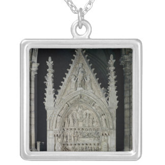 Tomb of Dagobert I King of the Franks Silver Plated Necklace