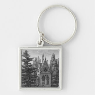 Tomb of Heloise and Abelard Silver-Colored Square Keychain