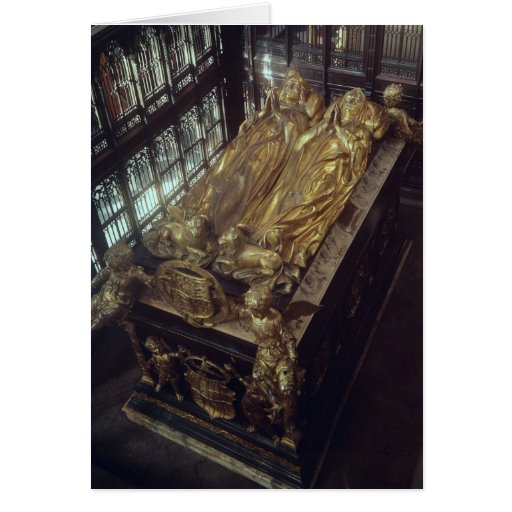 Tomb of Henry VII  and his Wife Greeting Cards