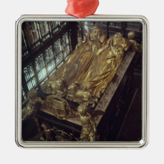Tomb of Henry VII  and his Wife Silver-Colored Square Ornament