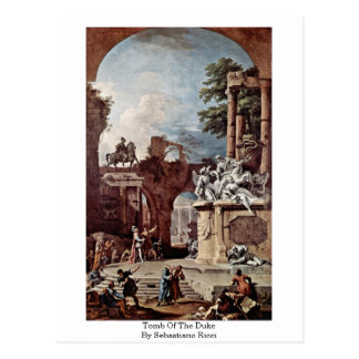 Tomb Of The Duke By Sebastiano Ricci Postcard
