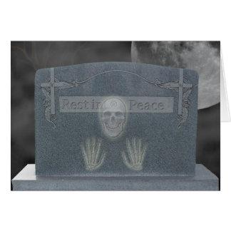 Tomb Stone Invitation Card