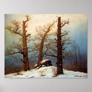 Tombeau Hunnique sous la neige  Huile sur toile (1 Poster
