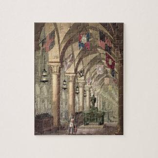 Tombs of the Knights Templar, c.1820-39 (aquatint) Jigsaw Puzzle
