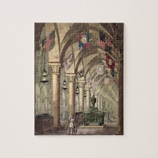 Tombs of the Knights Templar, c.1820-39 (aquatint) Jigsaw Puzzle