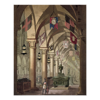 Tombs of the Knights Templar, c.1820-39 (aquatint) Poster