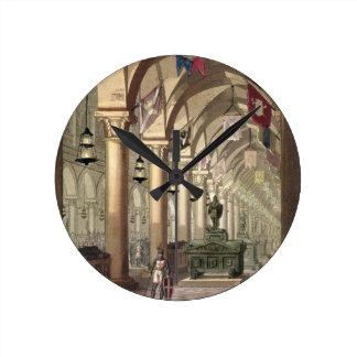 Tombs of the Knights Templar, c.1820-39 (aquatint) Round Clock