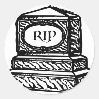 Tombstone Classic Round Sticker