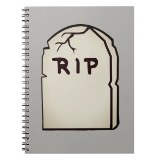 tombstone R.I.P Spiral Notebook