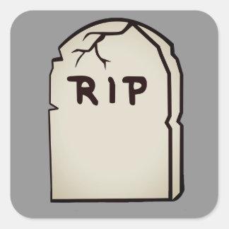 tombstone R.I.P Square Sticker
