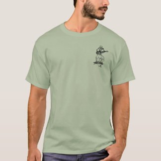 tombstone skeleton stone green T-Shirt