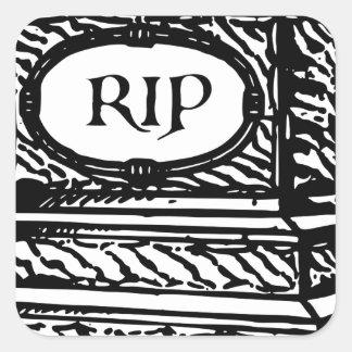Tombstone Square Sticker