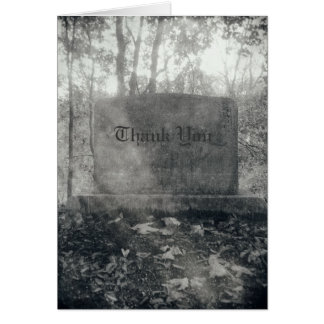 Tombstone Thank You Haunted Halloween Eerie Card