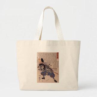 Tomimori Sukeemon Masakat dodging a brazier Large Tote Bag