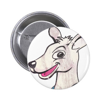 Tommy The Terrible Kangaroo Picture Pinback Button