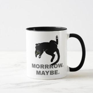 Tomorrow, maybe funny lazy cat mug