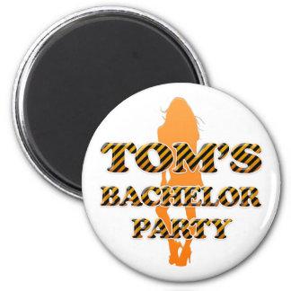 Tom's Bachelor Party Fridge Magnet