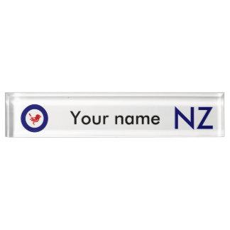 Tomtit roundel | New Zealand Bird Desk Name Plates
